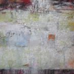 Olieverf, 100x100cm,100x100 cm Uit de serie Fragile